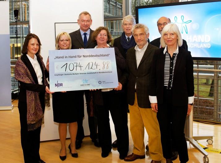 Mehr als eine Million Euro kamen bei der NDR Benefizaktion zusammen _ Verwendung honorarfrei (c)NDR