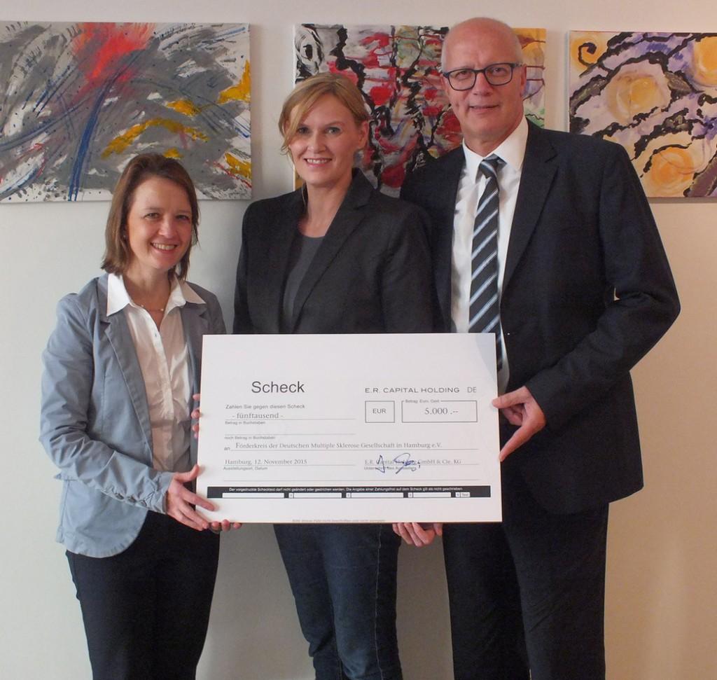 Spende E.R. Capital Holding an DMSG Hamburg